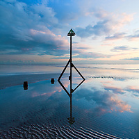 Sunset at West Wittering beach, West Sussex, UK