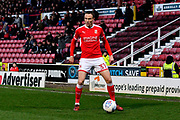 Matt Taylor (31) of Swindon Town during the EFL Sky Bet League 2 match between Swindon Town and Yeovil Town at the County Ground, Swindon, England on 10 April 2018. Picture by Graham Hunt.