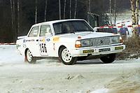Motorsport, Rally Solør 2000. Start nr. 156 finner vi ikke på listene og er derfor ukjent! . Foto: Digitalsport, Jan A. Holshagen