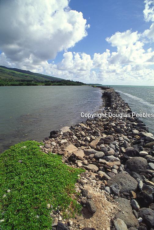 Hokukau-Ualapue Hawaiian fishpond, Molokai, Hawaii<br />