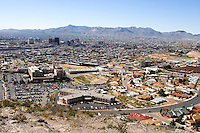 El Paso and Cd. Juarez from Scenic Drive, Mount Franklin, Texas.