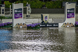 Longines Challenge Cup postponed due to heavy rain and thunder<br /> Furusiyya FEI Nations Cup Jumping Final - Barcelona 2016<br /> © Hippo Foto - Dirk Caremans<br /> 23/09/16