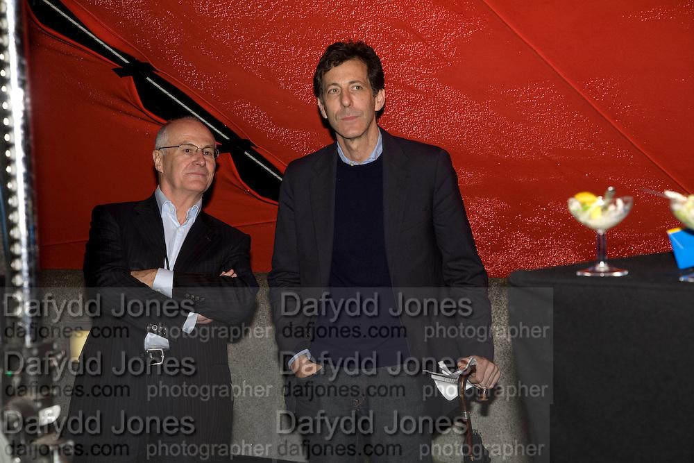MICHAEL LYNCH; RALPH RUGOFF,  The Hayward Gallery 40th birthday Gala. hayward Gallery. South Bank. 9 July 2008 *** Local Caption *** -DO NOT ARCHIVE-© Copyright Photograph by Dafydd Jones. 248 Clapham Rd. London SW9 0PZ. Tel 0207 820 0771. www.dafjones.com.