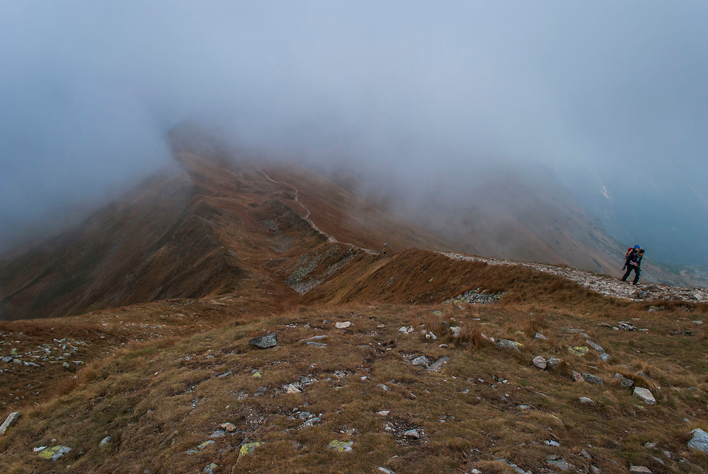 Trekking the Tatras National Park with members of the European Wilderness Society.