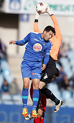 07.04.2012, Stadion Coliseum Alfonso Perez, Getafe, ESP, Primera Division, FC Getafe vs Sporting Gijon, 32. Spieltag, im Bild Getafe's Miku // during the football match of spanish 'primera divison' league, 32th round, between FC Getafe and Sporting Gijon at Coliseum Alfonso Perez stadium, Getafe, Spain on 2012/04/07. EXPA Pictures © 2012, PhotoCredit: EXPA/ Alterphotos/ Alvaro Hernandez..***** ATTENTION - OUT OF ESP and SUI *****