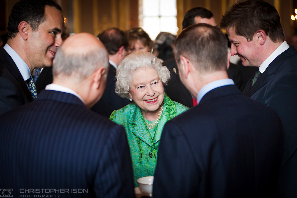 Her Majesty the Queen during a reception at Windsor Castle.