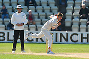 Ed Barnard of Worcestershire bowling during the final day of the Specsavers County Champ Div 1 match between Worcestershire County Cricket Club and Surrey County Cricket Club at New Road, Worcester, United Kingdom on 13 September 2018.