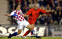Fotball<br /> EM-kvalifisering<br /> 10.09.2003<br /> Belgia v Kroatia<br /> NORWAY ONLY<br /> Foto: Phot News/Digitalsport<br /> <br /> NIKO KOVAC / JONATHAN WALASIAK