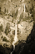 Cascade from spring runoff, Yosemite National Park, California USA