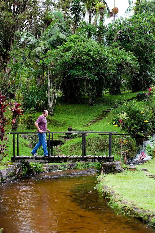 Morretes_PR, Brasil...Fazenda em Morretes, no Parana. Na foto um riacho. ..A farm in Morretes, Parana. In this photo a stream...Foto: BRUNO MAGALHAES / NITRO