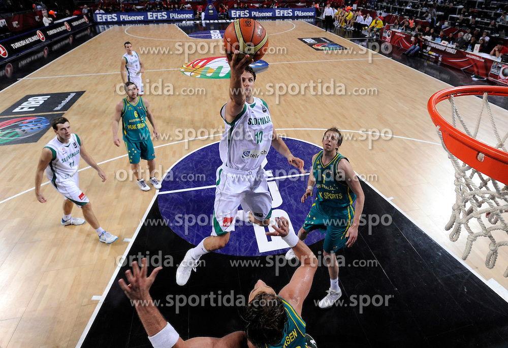 Bostjan Nachbar of Slovenia during  the eight-final basketball match between National teams of Slovenia and Australia at 2010 FIBA World Championships on September 5, 2010 at the Sinan Erdem Dome in Istanbul, Turkey. (Photo By Vid Ponikvar / Sportida.com)