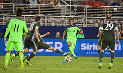 SANTA CLARA, USA - Saturday, July 30, 2016: Liverpool's Lazar Markovic in action against AC Milan during the International Champions Cup 2016 game on day ten of the club's USA Pre-season Tour at the Levi's Stadium. (Pic by David Rawcliffe/Propaganda)