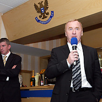 Jim Weir Testimonial...11.04.05<br />Tommy Craig of Newcastle Utd talks<br /><br />Picture by Graeme Hart.<br />Copyright Perthshire Picture Agency<br />Tel: 01738 623350  Mobile: 07990 594431