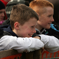 Conor Whelan and Dillon McMahon watching the action at the Clare Hunt point to point in Bellharbour on Sunday.<br /> Photograph by Yvonne Vaughan