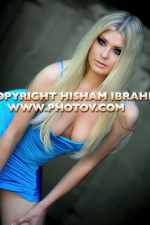 Beautiful Blonde Russian Fashion Model