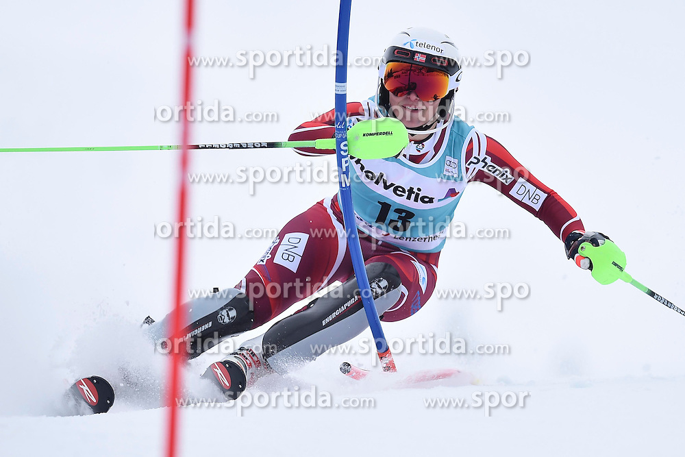 13.03.2016, Pista Silvano Beltrametti, Lenzerheide, SUI, FIS Weltcup Ski Alpin, Lenzerheide, Superkombination, Slalom, Damen, im Bild Ragnhild Mowinckel (NOR) // during ladie's Supercombi, Slalom Race of Lenzerheide FIS Ski Alpine World Cup at the Pista Silvano Beltrametti in Lenzerheide, Switzerland on 2016/03/13. EXPA Pictures &copy; 2016, PhotoCredit: EXPA/ Freshfocus/ Manuel Lopez<br /> <br /> *****ATTENTION - for AUT, SLO, CRO, SRB, BIH, MAZ only*****