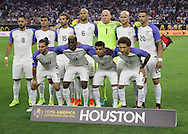 HOUSTON, TEXAS - JUNE 21: The United States starting 11 pose for a photo before the Semifinal match between Argentina and US at NRG Stadium as part of Copa America Centenario US 2016 on June 21, 2016 in Houston, Texas, US. Argentina won 4 to 0. (Photo by Thomas B. Shea/LatinContent/Getty Images)