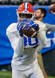 Florida Gators practice on Wednesday, December 26, 2018 at the Mercedes Benz Stadium in Atlanta. Florida will face Michigan in the 2018 Peach Bowl on December 29, 2018. (Jason Parkhurst via Abell Images for the Chick-fil-A Peach Bowl)