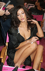 November 8, 2018 - New York, New York, U.S. - Model BELLA HADID has her hair and make-up done for fitting prior to the Victoria's Secret Runway show in New York City. (Credit Image: © Philip Vaughan/Ace Pictures via ZUMA Press)