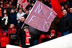 Nottingham Forest fans wave flags before the game - Mandatory by-line: Ryan Crockett/JMP - 22/02/2020 - FOOTBALL - The City Ground - Nottingham, England - Nottingham Forest v Queens Park Rangers - Sky Bet Championship