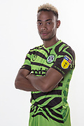 Forest Green Rovers Junior Mondal(25) during the official team photocall for Forest Green Rovers at the New Lawn, Forest Green, United Kingdom on 29 July 2019.