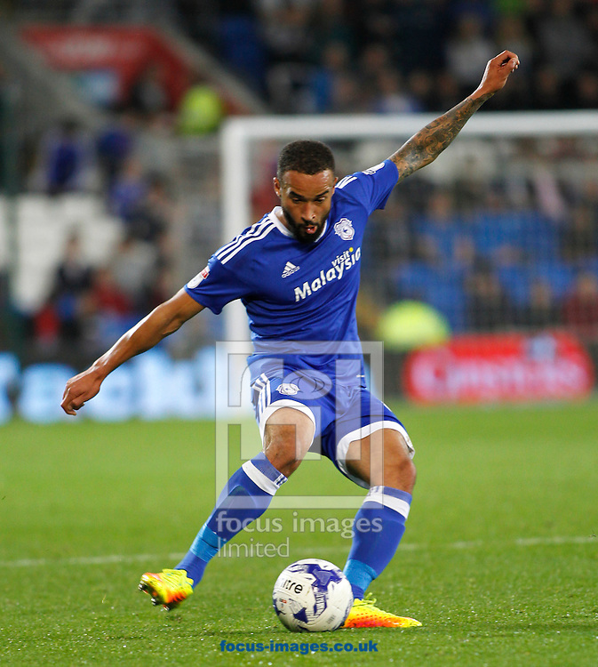 Jazz Richards of Cardiff City during the Sky Bet Championship match at the Cardiff City Stadium, Cardiff<br /> Picture by Mike Griffiths/Focus Images Ltd +44 7766 223933<br /> 27/09/2016