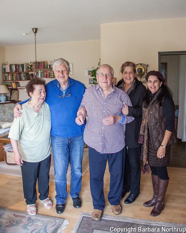 Home of Harold and Inge.  Inge, Klaus, Harold, Regina, Barbara.