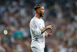 Sergio Ramos of Real Madrid looks on - Mandatory byline: Rogan Thomson/JMP - 04/05/2016 - FOOTBALL - Santiago Bernabeu Stadium - Madrid, Spain - Real Madrid v Manchester City - UEFA Champions League Semi Finals: Second Leg.