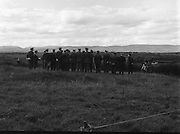 """Army Exercises In Co Sligo.   (L37).<br /> 1977.<br /> 05.09.1977.<br /> 09.05.1977.<br /> 5th September 1977.<br /> The Army Reserve Brigade, which is made up of regular units from the Southern Command, are conducting a series of conventional military exercises in counties Mayo and Sligo from the 5th to the 9th September. Approximately 1,500 men and 250 vehicles are involved. The exercise was codenamed """"Humbert"""" after an ill fated expedition by French troops into Ireland on 23rd August 1798. 1,100 French troops with Irish support took on the incumbent English forces. After some initial success they were defeated at Ballinamuk on 8th Sept 1798 by the army of Cornwallis.<br /> <br /> Image shows the Army High Command overseeing the military exercises."""