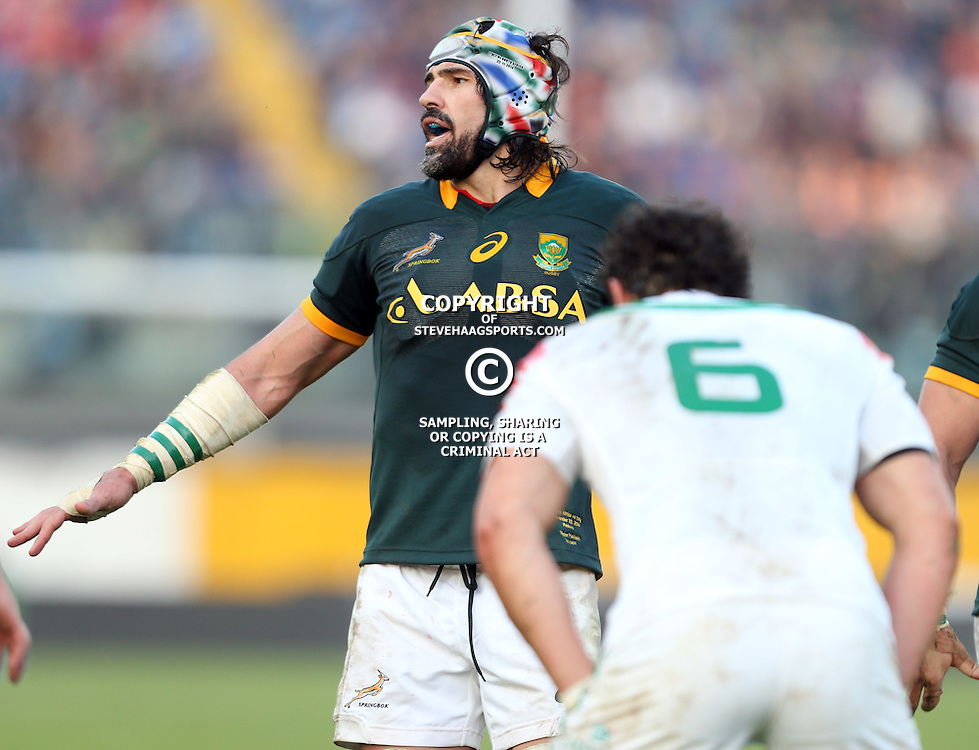 PADUA, ITALY - NOVEMBER 22: Victor Matfield of South Africa during the Castle Lager Outgoing Tour match between Italy and South African at Stadio Euganeo on November 22, 2014 in Padua, Italy. (Photo by Steve Haag/Gallo Images)