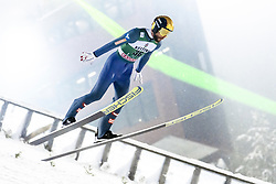 February 8, 2019 - Lahti, Finland - Manuel Fettner participates in FIS Ski Jumping World Cup Large Hill Individual training at Lahti Ski Games in Lahti, Finland on 8 February 2019. (Credit Image: © Antti Yrjonen/NurPhoto via ZUMA Press)