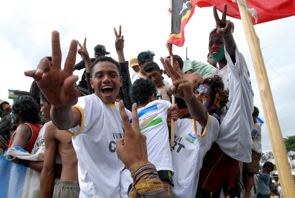 East Timor 2007 Parliamentary Elections - CNRT Party Rally at Dili Stadium, 26/06/07