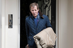 © Licensed to London News Pictures. 26/04/2017. London, UK. Alastair Campbell leaves Tony Blair's office in the West End. Earlier, Mr Blair met with his former Scottish Labour leader Jim Murphy. Mr Blair recently called for voters to think about backing Lib Dem or Conservative candidates in the general election on June 8th if they promise to have an open mind about the terms of the final Brexit deal. Photo credit: Peter Macdiarmid/LNP
