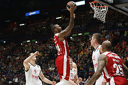 November 17, 2017 - Milan, Milan, Italy - Amath MBaye (#24 AX Armani Exchange Milan) shoots a layup during a game of Turkish Airlines EuroLeague basketball between  AX Armani Exchange Milan vs Brose Bamberg at Mediolanum Forum, on November 17, 2017 in Milan, Italy. (Credit Image: © Roberto Finizio/NurPhoto via ZUMA Press)