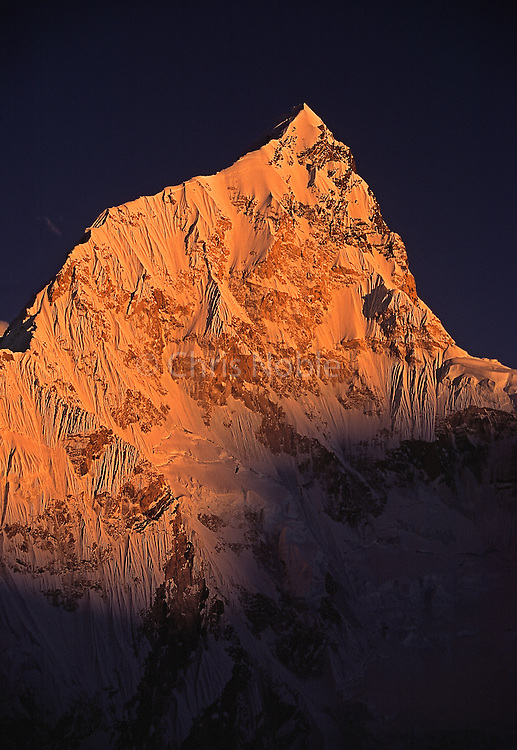 Nuptse Peak (7879 Meters) at sunrise as seen from Pumori, Khumbu Himal, Nepal