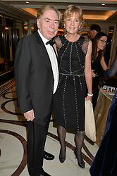 LORD & LADY LLOYD-WEBBER at the 24th Cartier Racing Awards held at The Dorchester, Park Lane, London on 11th November 2014.
