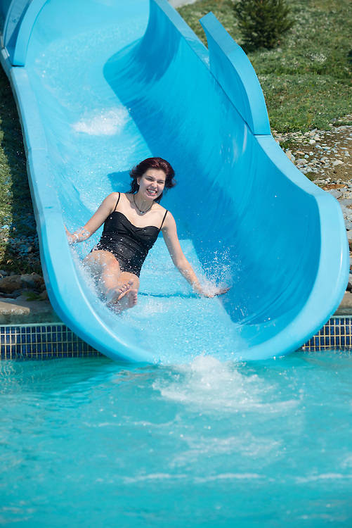 Canada, British Columbia,Okanagan Valley, Vernon, Atlantis waterslides