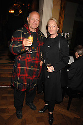 CLARA FISCHER and actor STEVEN BERKOFF  at a party to celebrate the publication of Michael Winner's new book 'Fat Pig Diet' held at The Belvedere, Holland Park, London on 17th October 2007.<br />