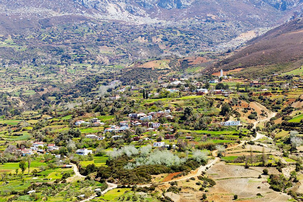 TETOUAN, MOROCCO - 7th April 2016 - Rif Mountain Landscape surrounding the Tetouan Medina, Rif region of Northern Morocco.