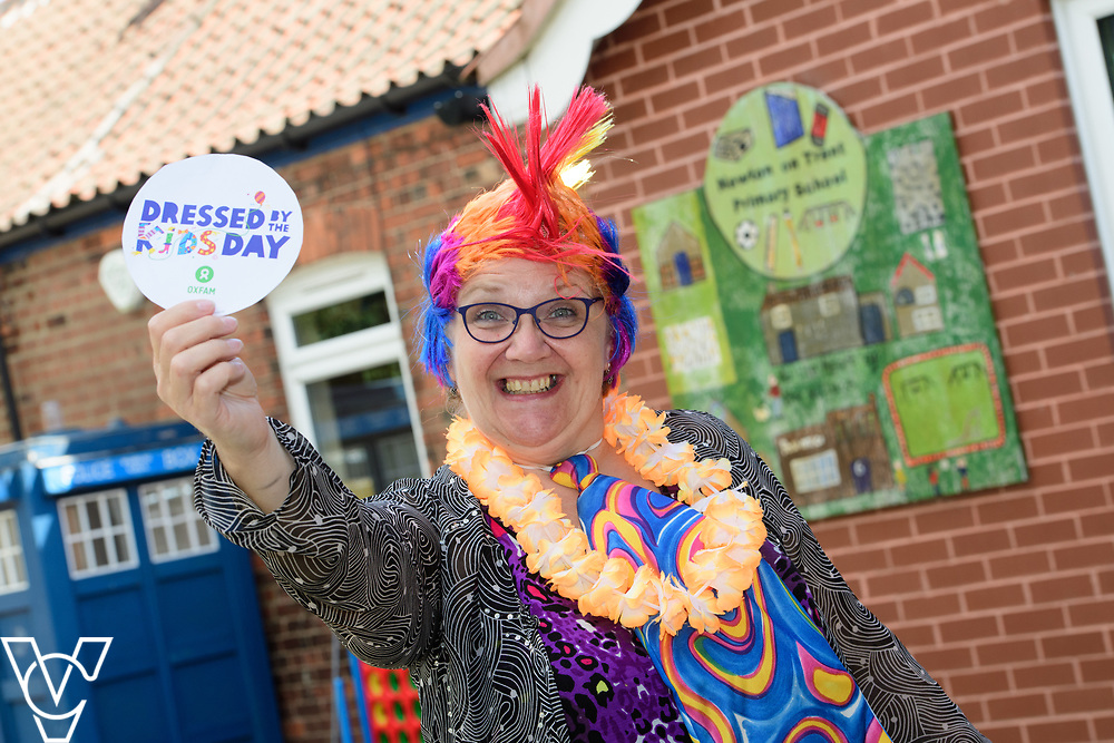 Newton on Trent Primary School, in Newton-on-Trent, near Lincoln, have been taking part in Oxfam's Dressed By The Kids Day.  Pictured is headteacher Alyson Bristow. <br /> <br /> Picture: Chris Vaughan Photography for Oxfam<br /> Date: June 13, 2017