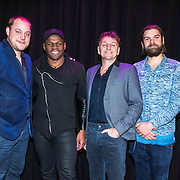 NLD/Amsterdam/20141217 - Musical Awards Nominatielunch 2015, Dennis Willekens, Clayton Peroti, Dick Cohen, Steyn de Leeuwe