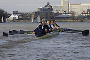 PUTNEY, LONDON, ENGLAND, 19.03.2006, Pre 2006 Boat Race Fixture, Oxford UBC vs  Imperial BC. over the Championship Course, from Putney to Mortlake.   © Peter Spurrier/Intersport-images.com.Oxford, Cox: Sebastian (Seb) Pearce, Paul Daniels, Robin Esjmond-Frey, Tom Parker, Bastien Ripoll, James (Jamie) Schroeder , Colin Smith , Jacob (Jake) Wetzel, Barney Williams...Imperial, Cox: Abbie Stephenson, Carlo Mornati, Leonardo Raffaello, Dario Dentale, Mario Palmisano, Elia Luini, Pierpaolo Frattini, Niccolo Mornati, Lorenzo Porzio-Bow...[Mandatory Credit Peter Spurrier/ Intersport Images][Mandatory Credit Peter Spurrier/ Intersport Images] Varsity Boat Race, Rowing Course: River Thames, Championship course, Putney to Mortlake 4.25 Miles