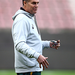 Rassie Erasmus (Head Coach) of South Africa during the South African - Springbok Captain's Run at DHL Newlands Stadium. Cape Town.South Africa. 22,06,2018 23,06,2018 Photo by (Steve Haag JMP)