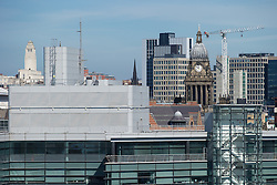 © Licensed to London News Pictures . 06/04/2015 . Leeds , UK . GV of Leeds City Centre , featuring Leeds Town Hall . Photo credit : Joel Goodman/LNP