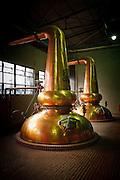 Yamazaki, November 22 2011 - Suntory whisky distillery in Yamazaki, Japan. Alambics in the distillation room.