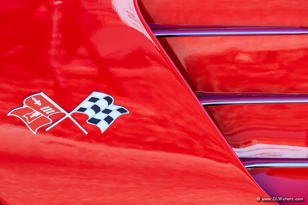 Antique Corvette emblem.