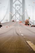 Bay Bridge retrofit and new bridge construction. Labor day bridge closure Thursday August 29, Friday August, 30, 2013. With ACC road crews.