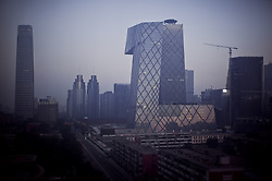 Beijing's financial district at sunrise, Beijing, China