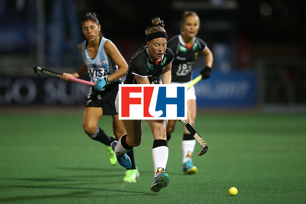 JOHANNESBURG, SOUTH AFRICA - JULY 20:  Teresa Martin Pelegrina of Germany controls the ball during day 7 of the FIH Hockey World League Women's Semi Finals semi final match between Germany and Argentina at Wits University on July 20, 2017 in Johannesburg, South Africa.  (Photo by Jan Kruger/Getty Images for FIH)