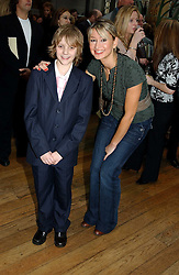 TV presenter ELLIE CRISELL and CHRISTOPHER SPENCER who plays Billy Elliot in the stage version of Billy Elliot at The Critic's Circle National Dance Awards 2005 held at The Royal Opera House, Covent Garden on 19th January 2006.<br /><br />NON EXCLUSIVE - WORLD RIGHTS
